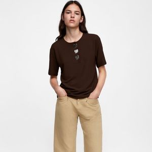 Zara brown top
